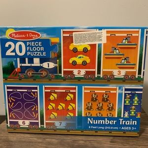 Brand New !Melissa & Doug 20 Piece Floor Puzzle